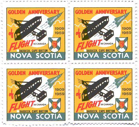 Fiftieth anniversary, 1959, of the first flight in Canada