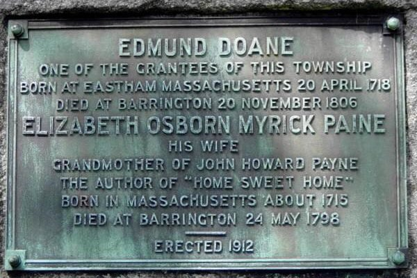 Barrington: Edmund Doane plaque -7