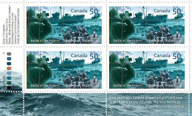 Stamp: Battle of the Atlantic, officially unveiled 1 May 2005 in Halifax