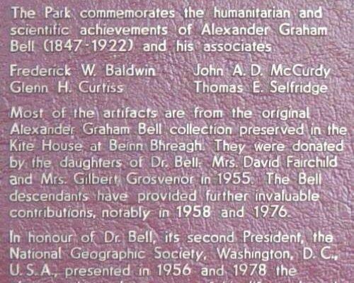 Plaque: Alexander Graham Bell National Historic Park -3