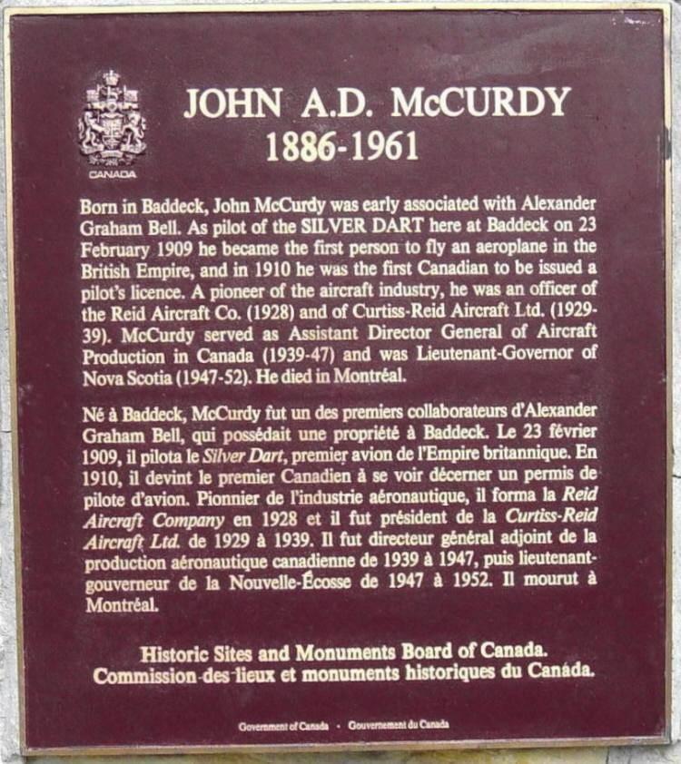 John A.D. McCurdy (1886-1961)
