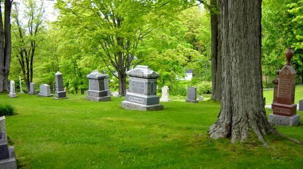 S.P. Benjamin tombstone, Wolfville -3