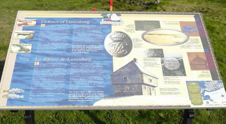 Defence of Lunenburg, interpretative panel