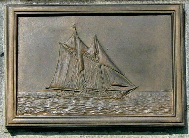 Nova Scotia, Lunenburg: Schooner Bluenose plaque