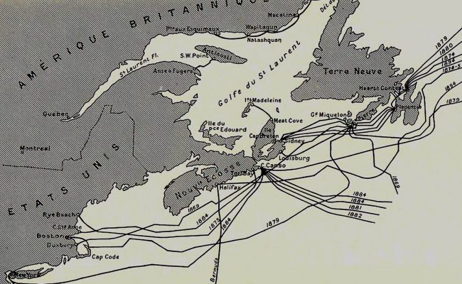 Cable Map published 1897 by the International Telegraph Bureau, Bern, in 1897 -28