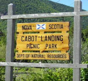 Cabot Landing Park sign