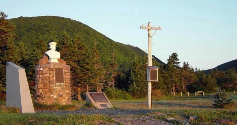 Aspy Bay historic site at dawn