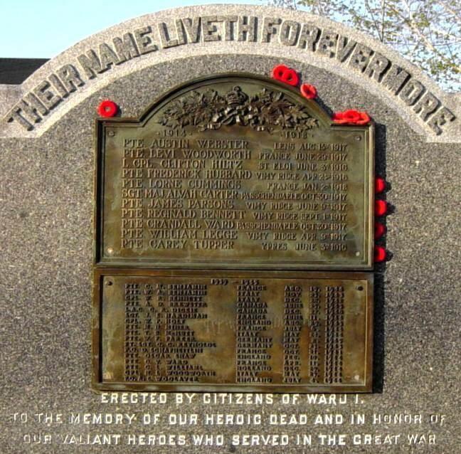 Canning: war memorial monument