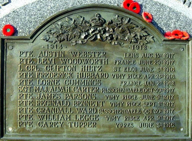 Canning: war memorial monument, 1914-18 plaque -4