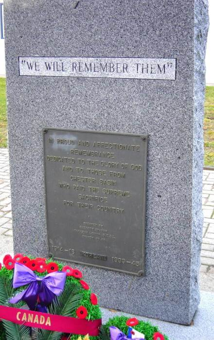 War memorial monument, Chester Basin