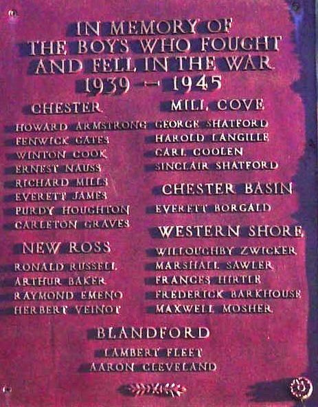Chester: war memorial monument, north face upper plaque