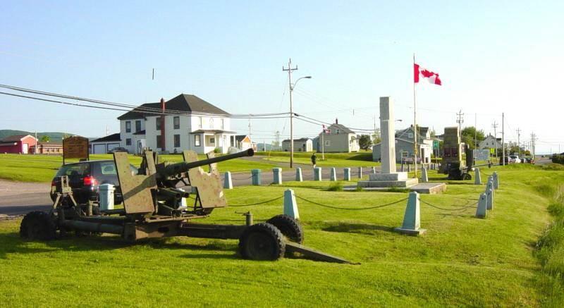 Cheticamp: war memorial, looking southward