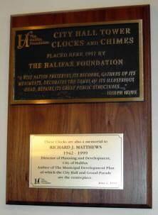Halifax City Hall clocks and chimes
