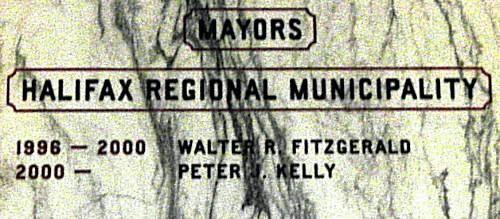 Halifax Regional Municipality: mayors, 1996-2002