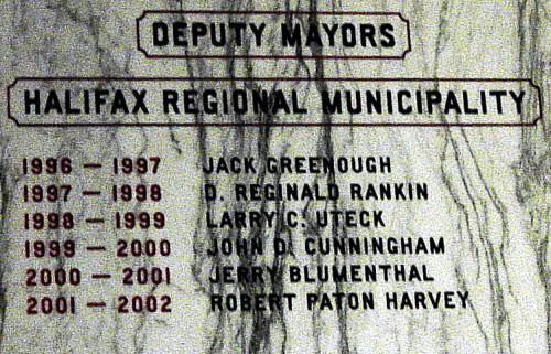 Halifax Regional Municipality: deputy mayors, 1996-2002