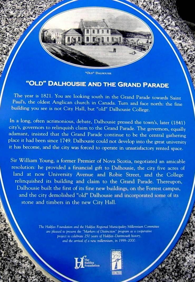 Millennium Plaque: Old Dalhousie and the Grand Parade