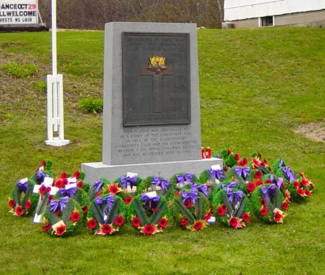 War memorial monument, Clementsport