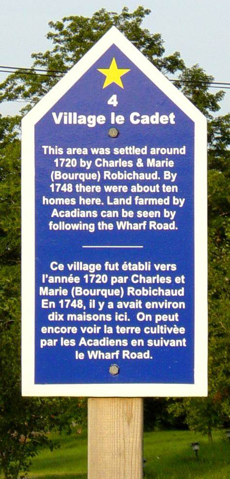 Colchester County: Acadian Heritage sign #04, Great Village