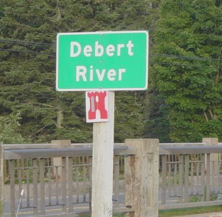 Colchester County: Debert River sign, Lower Debert
