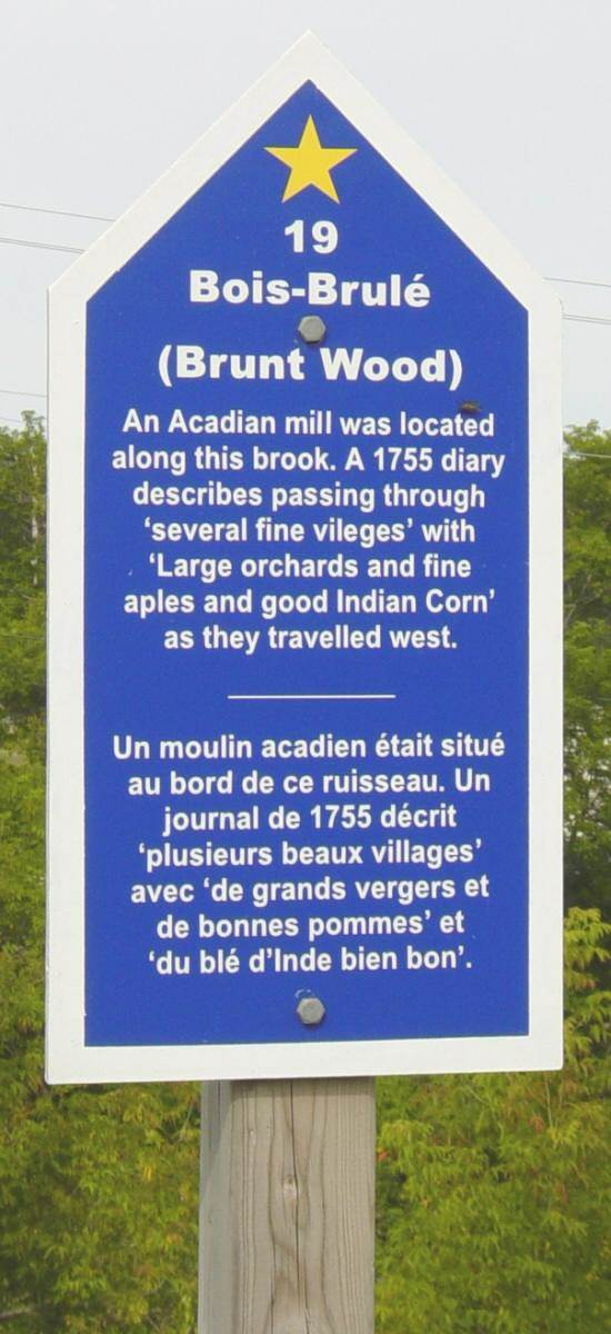 Colchester County: Acadian Heritage sign #19, Truro