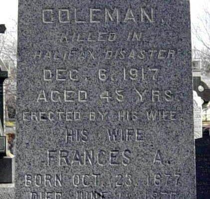 Vince Coleman tombstone, Halifax -1