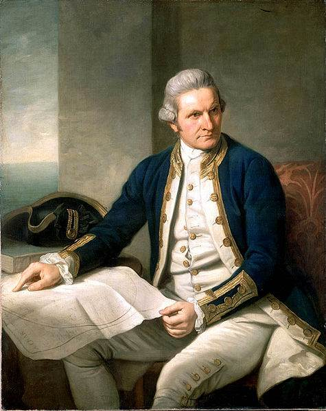 Captain James Cook portrait by Nathaniel Dance, 1776
