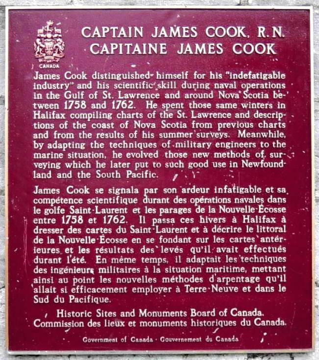 Captain James Cook plaque, Halifax