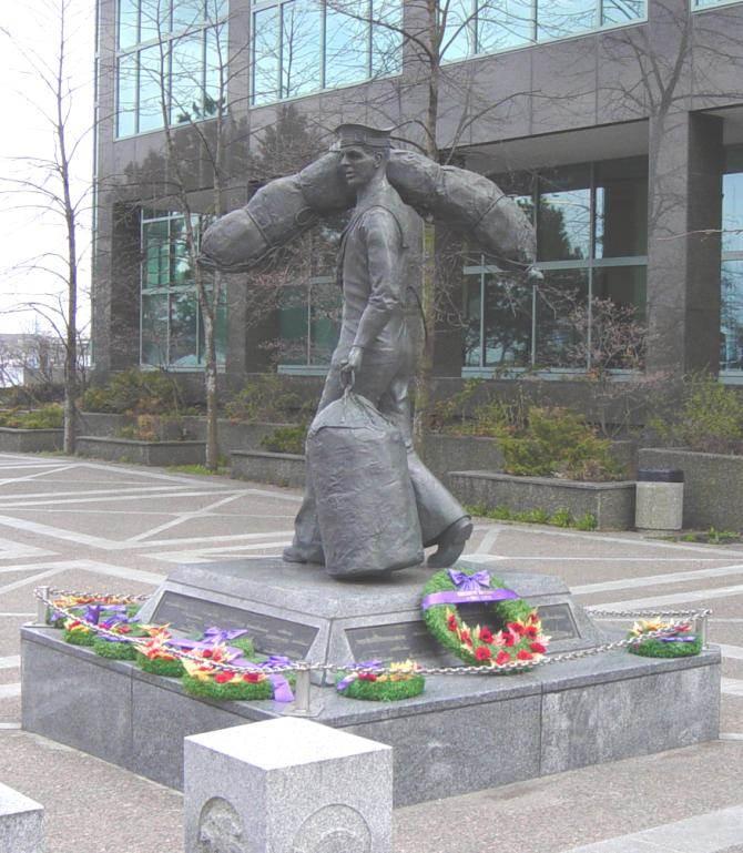 Halifax: Sailor's Statue, Sackville Landing