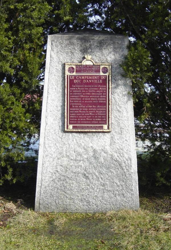 Rockingham: Duc d'Anville's Encampment 1746 memorial monument
