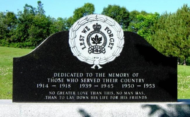 East Bay, Nova Scotia: war memorial, front -2