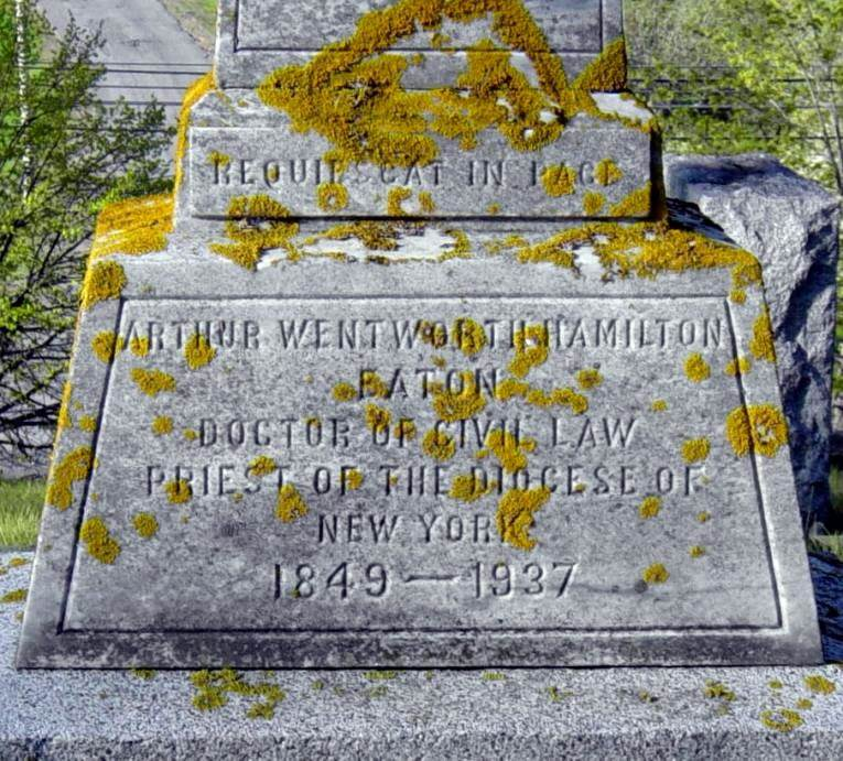 A.W.H. Eaton tombstone
