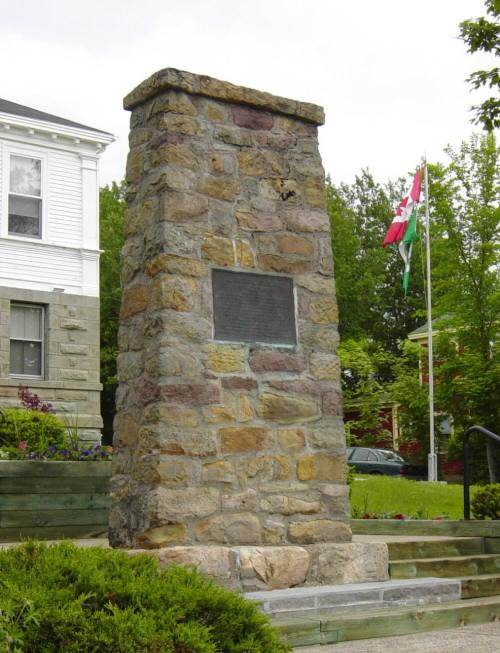 Baddeck Courthouse: First Flight monument
