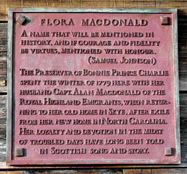 Flora MacDonald plaque, Windsor