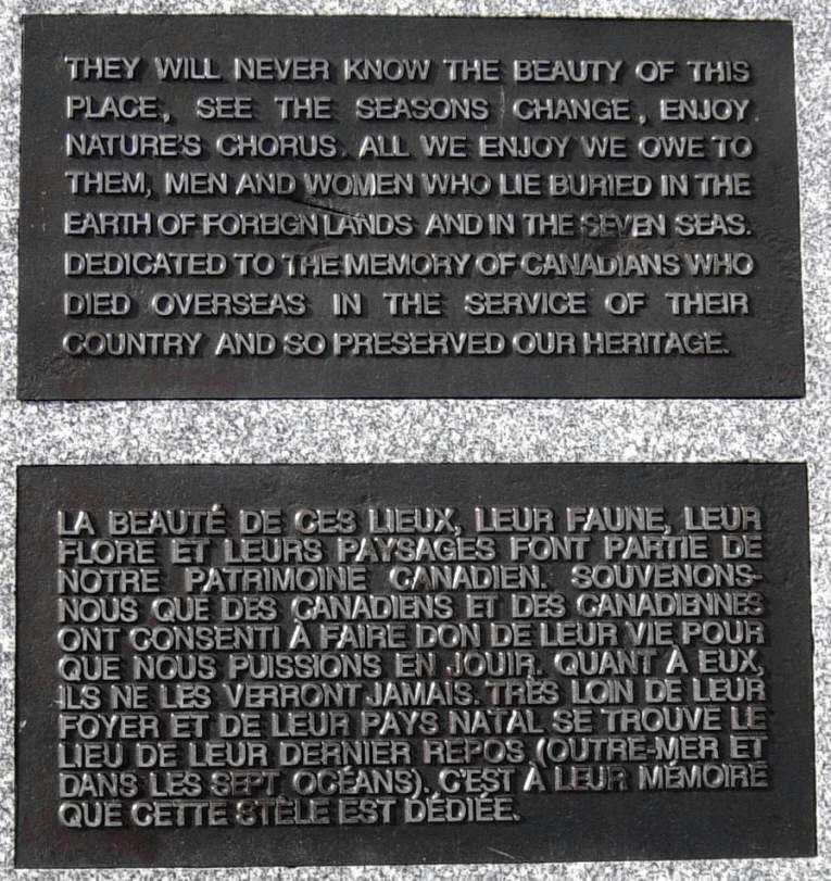 French Mountain: war memorial