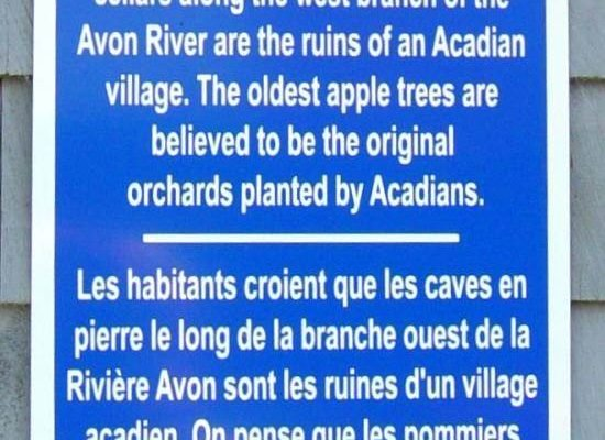 Hants County: Acadian Heritage sign #04, Acadian Forest Farm -1