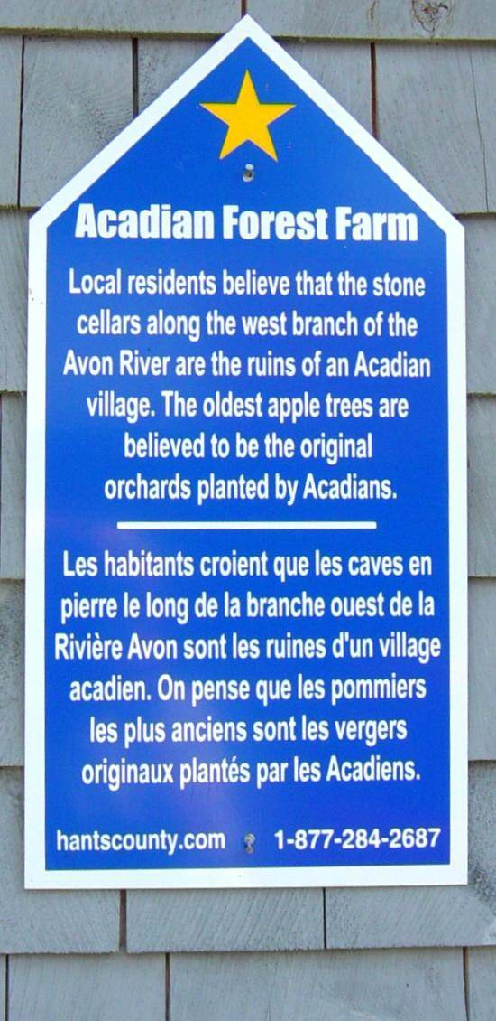 Hants County: Acadian Heritage sign #04, Acadian Forest Farm -1