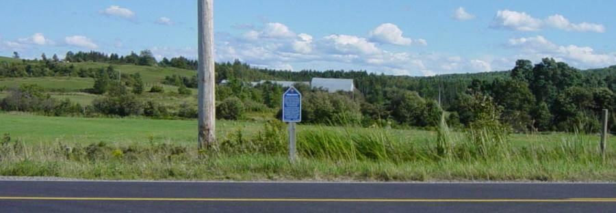 Hants County: Acadian Heritage sign #08, Lebreau Creek