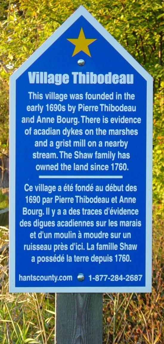Hants County: Acadian Heritage sign #15, Poplar Grove