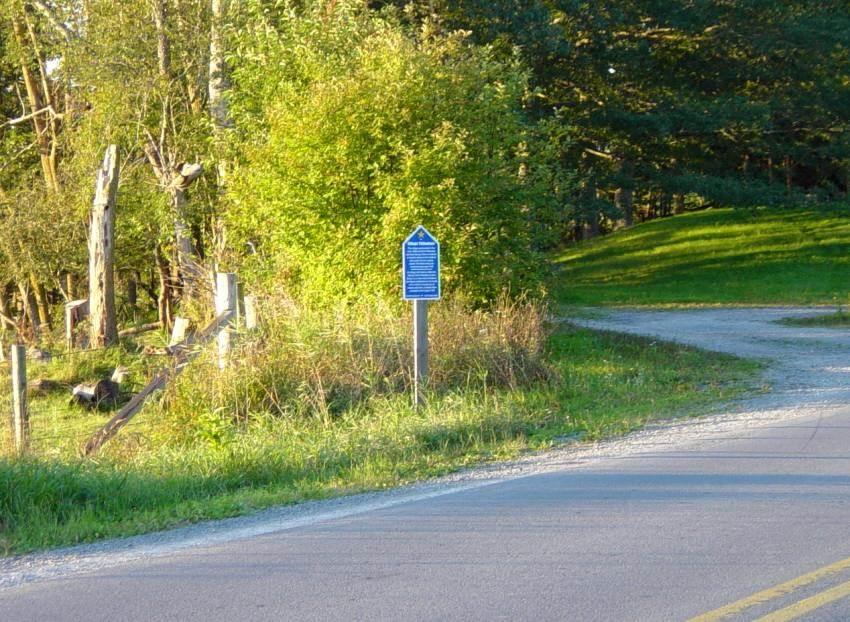 Hants County: Acadian Heritage sign #15, Poplar Grove -2