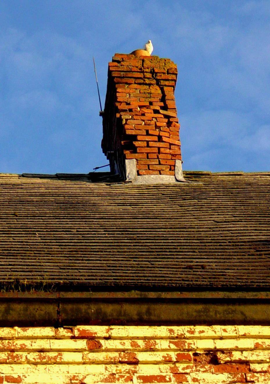 Hazel Hill: Commercial Cable Company telegraph building, east chimney