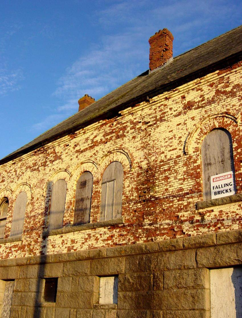 Hazel Hill: Commercial Cable Company telegraph building, back (south side)