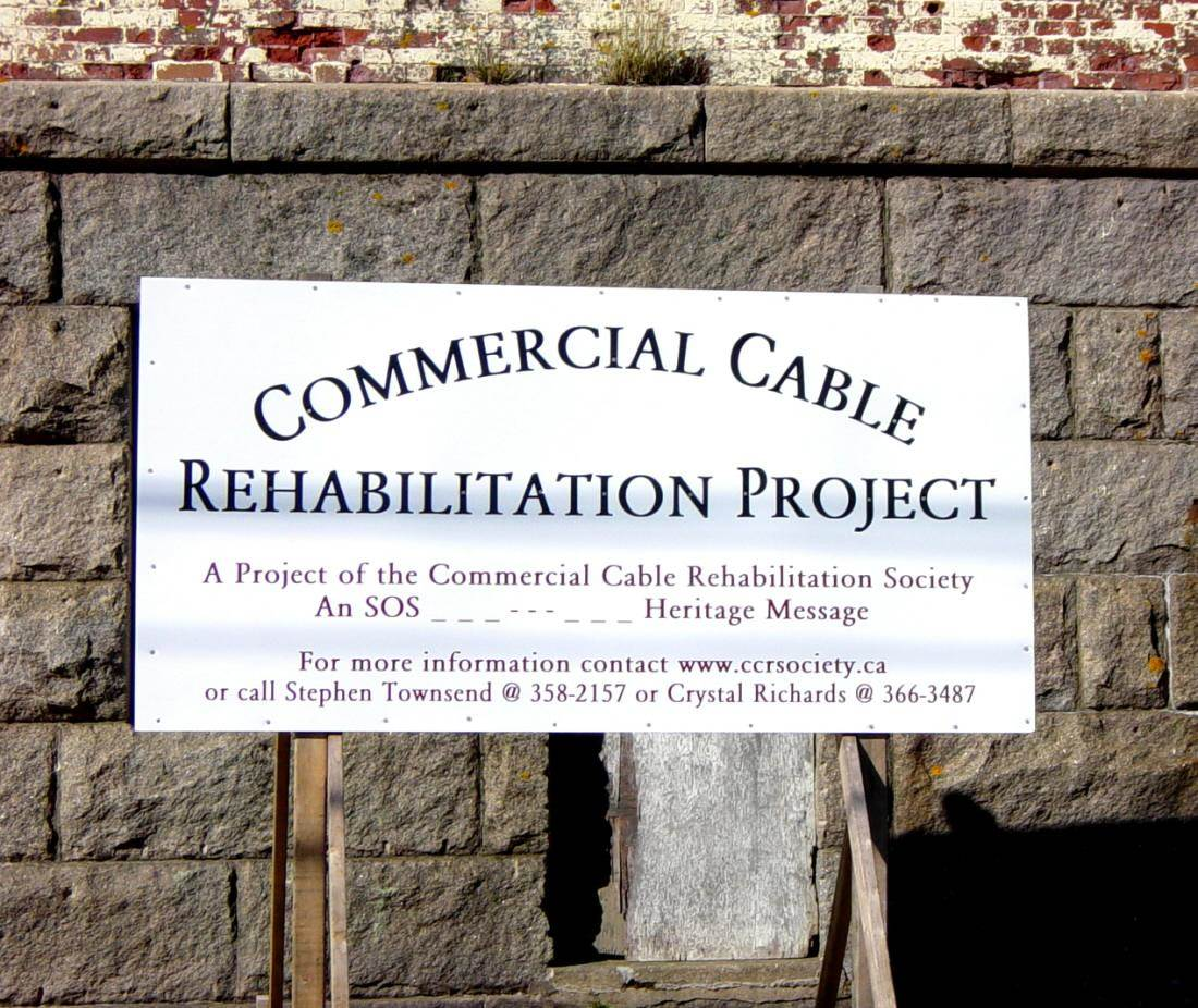 Hazel Hill: Commercial Cable Company telegraph building, south side