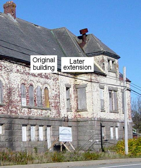 Hazel Hill: Commercial Cable Company telegraph building, original building and extension