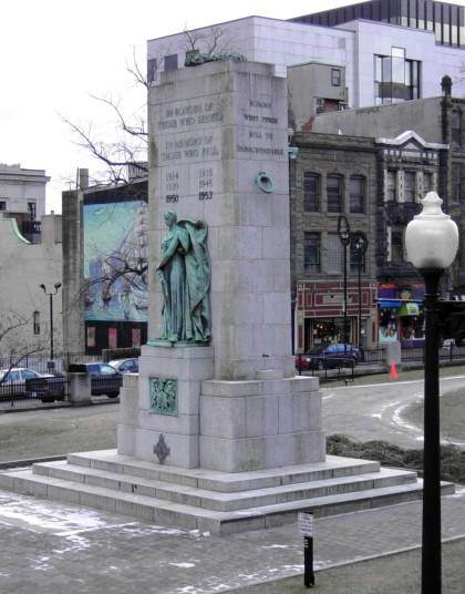 Halifax war memorial monument: north and west faces -7