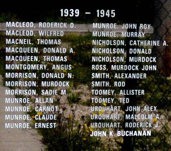 Indian Brook war memorial monument -4