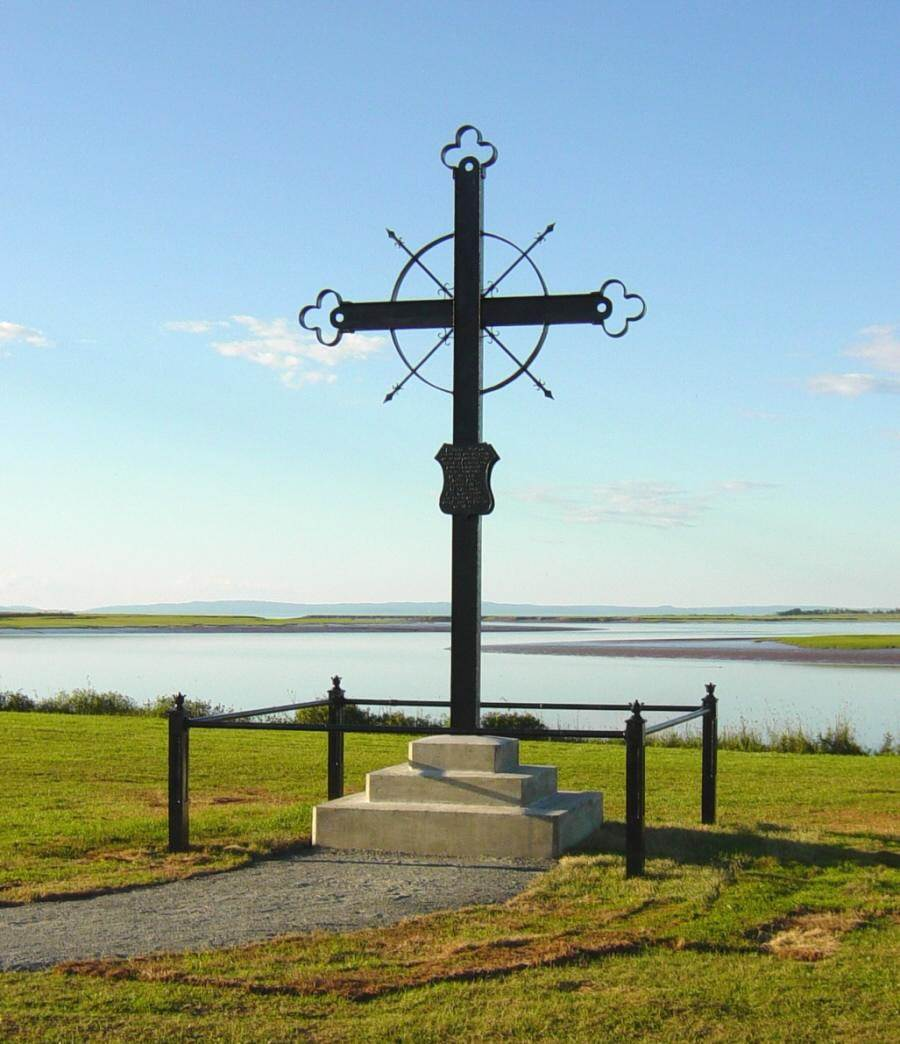 Horton Landing: The Iron Cross at its new location