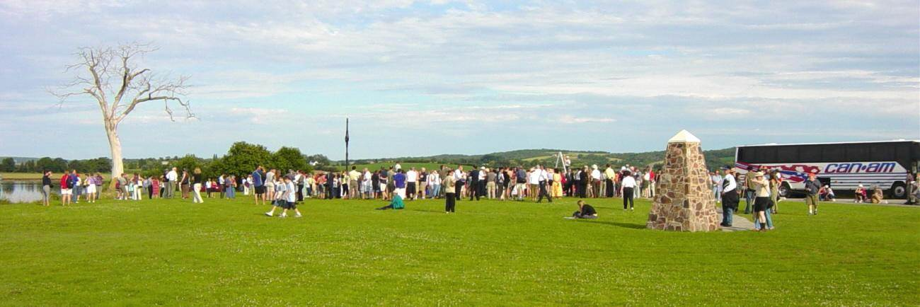 Horton Landing: Official dedication ceremony, Iron Cross in its new location