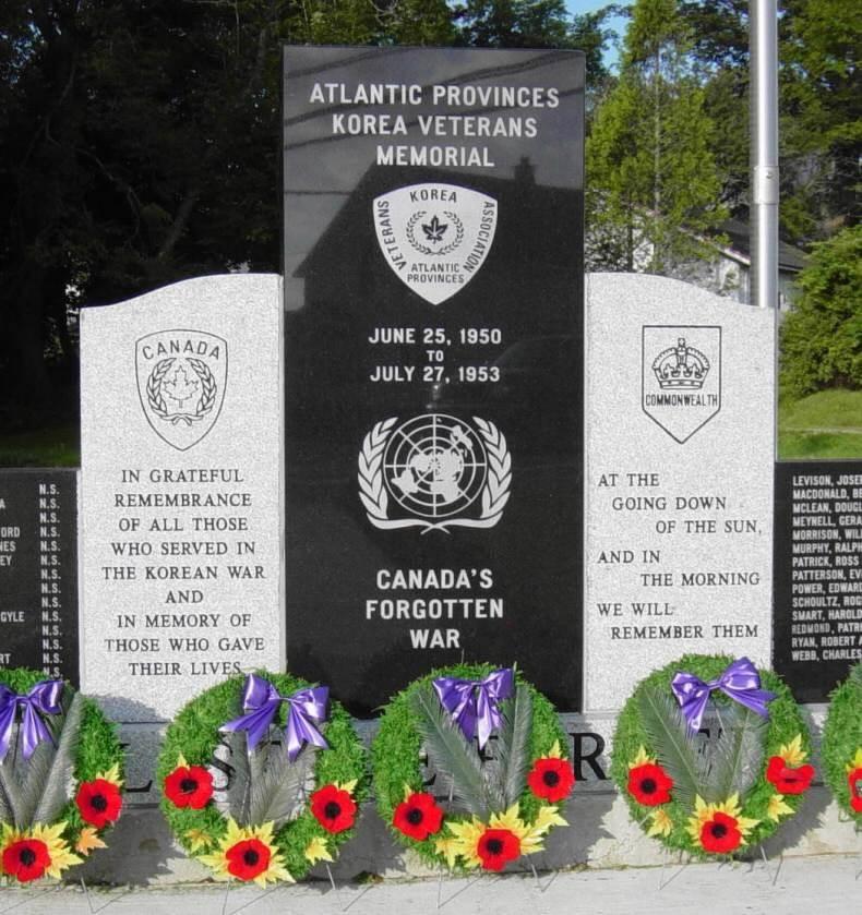 Yarmouth: Korean War memorial, center panels