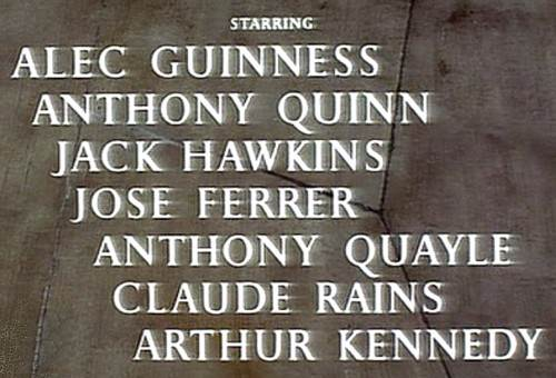 Credits, Lawrence of Arabia, 1962