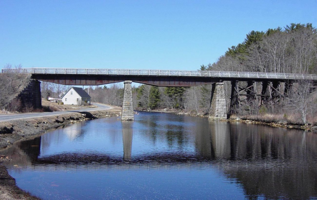Martins River Bridge with deck and handrail by Military Engineers -6